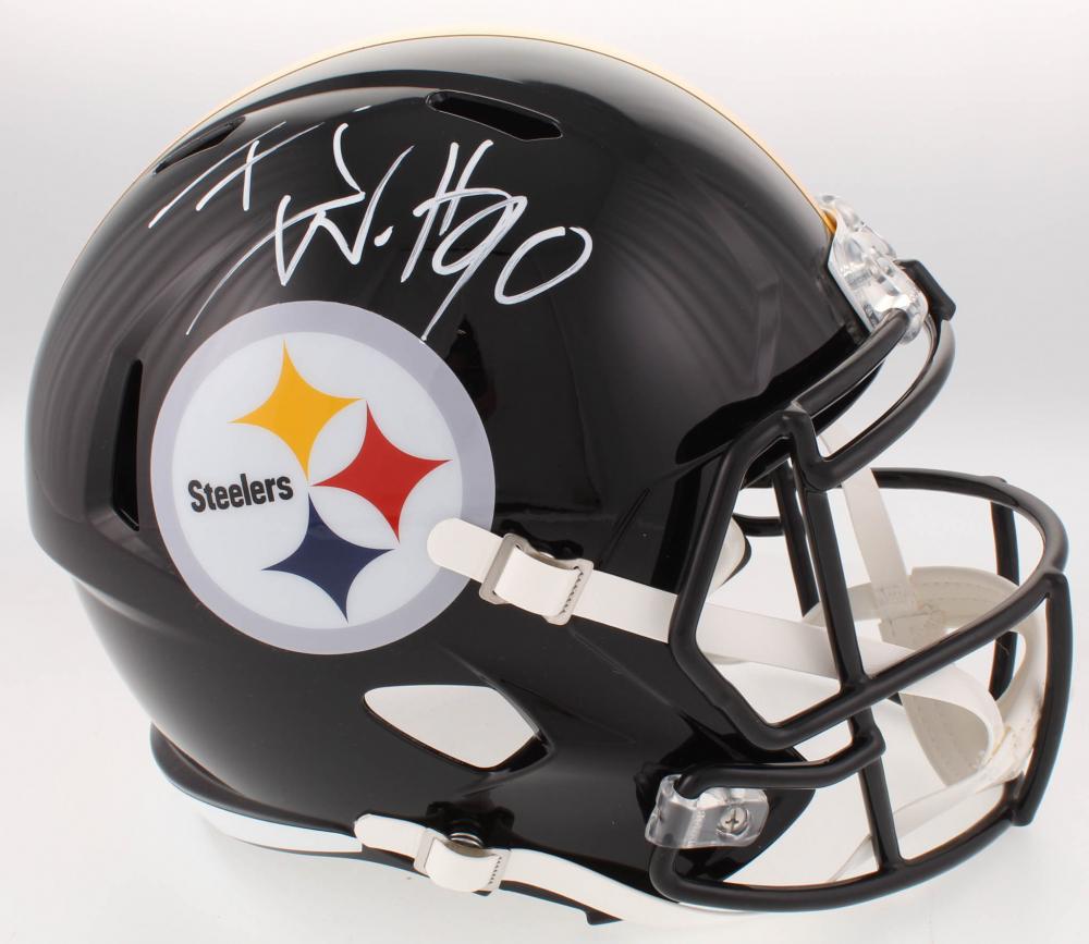 13b5dfe10 T.J. Watt Signed Pittsburgh Steelers Full-Size Speed Helmet (JSA COA   Watt  Hologram