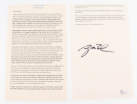 """George W. Bush Signed """"9/11 Speech"""" (JSA COA)"""