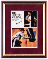 Muhammad Ali Signed 13.25x16.25 Custom Framed Photo Display (JSA LOA)