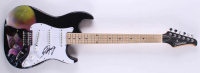 Rob Halford Signed Full-Size Custom Airbrushed Silvertone Electric Guitar (JSA Hologram) at PristineAuction.com