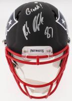 """Rob Gronkowski Signed Patriots Custom Matte Full-Size Chrome Speed Helmet Inscribed """"Gronk!"""" (Beckett COA)"""