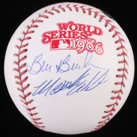 Bill Buckner & Mookie Wilson Signed World Series 1986 Logo Baseball (Steiner COA & MLB Hologram)