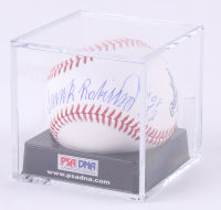 "Frank Robinson Signed OML Baseball with Display Case Inscribed ""HOF 82"" (PSA COA - Graded 9.5)"