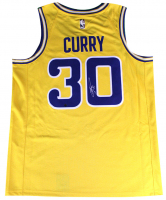 Stephen Curry Signed Warriors Nike Jersey (Steiner COA) at PristineAuction.com