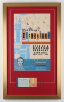 Disneyland Opening Day Ceremony 17x28 Custom Framed Print Display with Vintage Ticket Booklet & Pressed Coin
