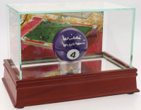 Willie Mosconi Signed #4 Pool Ball with LeRoy Neiman Display Case (JSA COA)