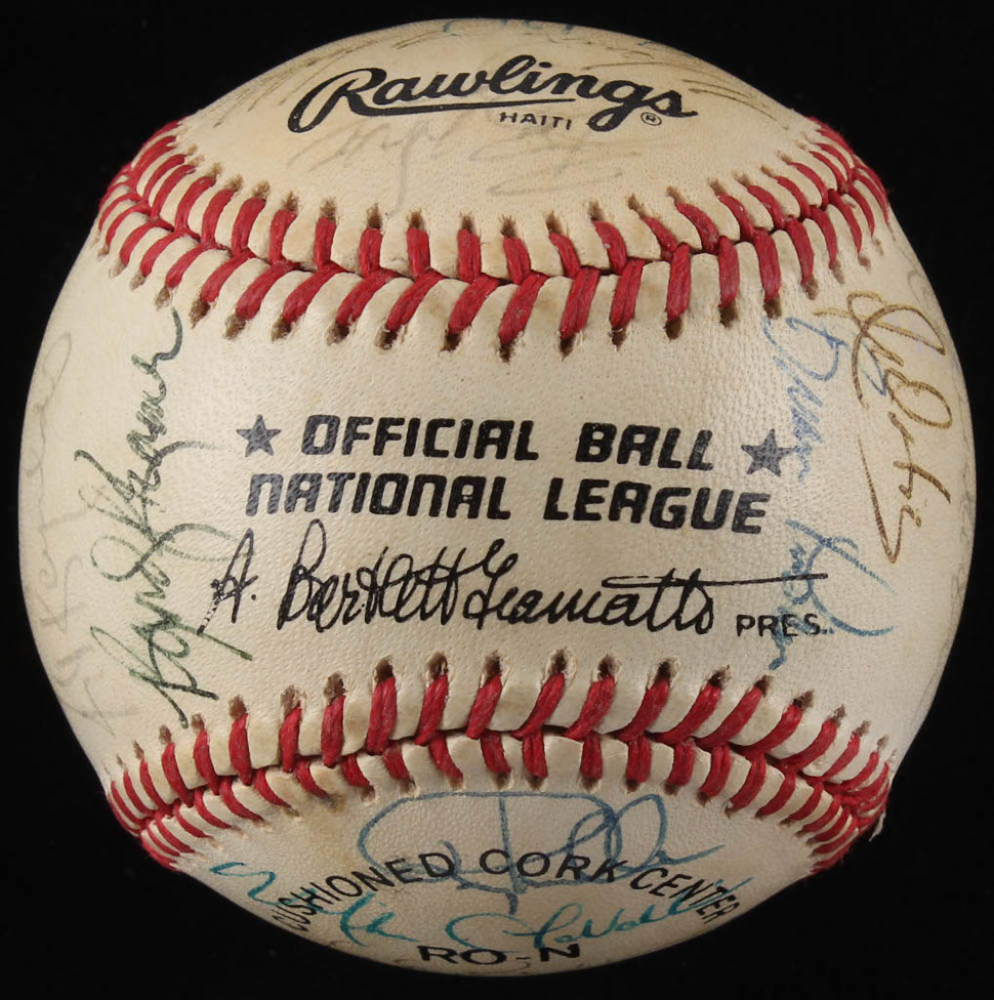 92c32b3c0f5 Late 1980 s Pirates ONL Baseball Signed by (25) with Barry Bonds