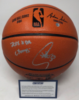 "Stephen Curry Signed NBA Game Ball Series Basketball Inscribed ""2018 NBA Champs"" (Steiner COA) at PristineAuction.com"