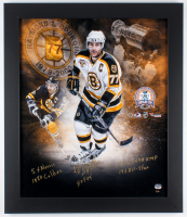Ray Bourque Signed LE Bruins 2001 Stanley Cup Champions 23.5x27.5 Custom Framed Photo Display with (5) Inscriptions (Fanatics Hologram)