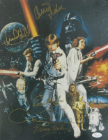 """""""Star Wars"""" 11x14 Photo signed by (5) with Carrie Fisher, Mark Hamill, Peter Mayhew, Kenny Baker & Anthony Daniels (JSA LOA)"""