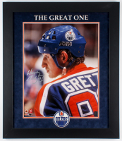 Wayne Gretzky Signed LE Oilers 23.5x27.5 Custom Framed Photo Display (Gretzky Hologram) at PristineAuction.com