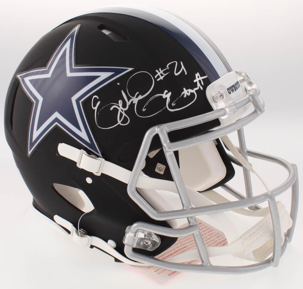 6031f4b568b Ezekiel Elliott Signed Dallas Cowboys Full-Size Custom Matte Black Authentic  On-Field Speed Helmet (Beckett COA)
