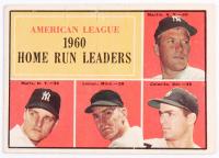 1961 Topps #44 AL Home Run Leaders / Mickey Mantle / Roger Maris / Jim Lemon / Rocky Colavito