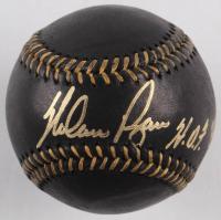 "Nolan Ryan Signed OML Black Leather Baseball Inscribed ""HOF 99"" (AIV COA & Ryan Hologram) at PristineAuction.com"