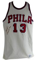Wilt Chamberlain Signed 76ers Mitchell & Ness Jersey (JSA LOA) at PristineAuction.com