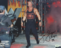 """Lex Luger Signed WWE 8x10 Photo Inscribed """"Wolfpac 98"""" (SOP COA)"""