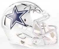 Tony Romo Signed Dallas Cowboys Full-Size Chrome Speed Helmet (Beckett COA) at PristineAuction.com