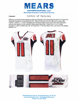 "Julio Jones Signed Falcons 50th Anniversary Game-Used Jersey Inscribed ""Game Worn 12-16 VS Tampa"" with 50 Seasons Patch (Mears LOA & JSA LOA) at PristineAuction.com"