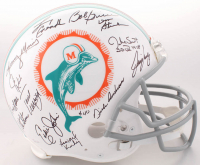 1972 Miami Dolphins Full-Size Authentic On-Field Helmet Team-Signed by (27) with Bob Griese, Jake Scott, Dick Anderson, Bob Heinz, Charlie Babb (JSA COA)
