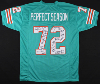 "1972 Miami Dolphins ""Perfect Season"" Jersey Signed by (27) with Don Shula, Bob Griese, Paul Warfield, Larry Little, Jim Langer (JSA COA)"