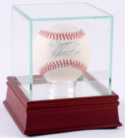 Ken Griffey Jr. & Ken Griffey Sr. Signed OAL Baseball with High Qualitry Display Case (PSA LOA)