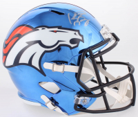 Peyton Manning Signed Denver Broncos Full-Size Chrome Speed Helmet (Fanatics Hologram)
