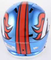 Peyton Manning Signed Broncos Full-Size Chrome Speed Helmet (Fanatics Hologram) at PristineAuction.com