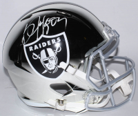 Bo Jackson Signed Raiders Full-Size Chrome Alternate Speed Helmet (Beckett COA) at PristineAuction.com