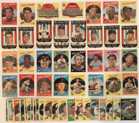 Lot of (67) 1959 Topps Baseball Cards with #410 Billy Pierce, #377 Johnny Antonelli, #400 Jackie Jensen, #397 Washington Senators CL, #172 Kansas City Athletics CL at PristineAuction.com