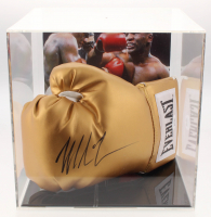 Mike Tyson Signed Everlast Boxing Glove With Photo Display Case (JSA COA)