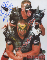 "Joe Laurinaitis Signed ""Road Warriors"" 8x10 Photo Inscribed ""Road Warriors"" (Legends COA)"