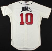 "Chipper Jones Signed Braves Jersey Inscribed ""HOF 18"" (Beckett COA)"