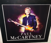 Paul McCartney Signed Beatles 21x48 Custom Framed Shadowbox Guitar Display (JSA LOA) at PristineAuction.com