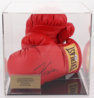 Julio Cesar Chavez Signed Everlast Boxing Gloves with Display Case (PSA COA)