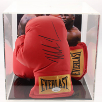 Mike Tyson Signed Everlast Boxing Gloves with Photo Display Case (JSA COA)