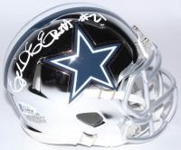 Ezekiel Elliott Signed Cowboys Chrome Speed Mini Helmet (Beckett COA) at PristineAuction.com