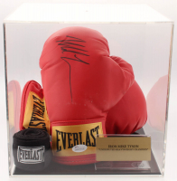 Mike Tyson Signed Everlast Boxing Gloves with Photo Display Case (JSA COA) at PristineAuction.com