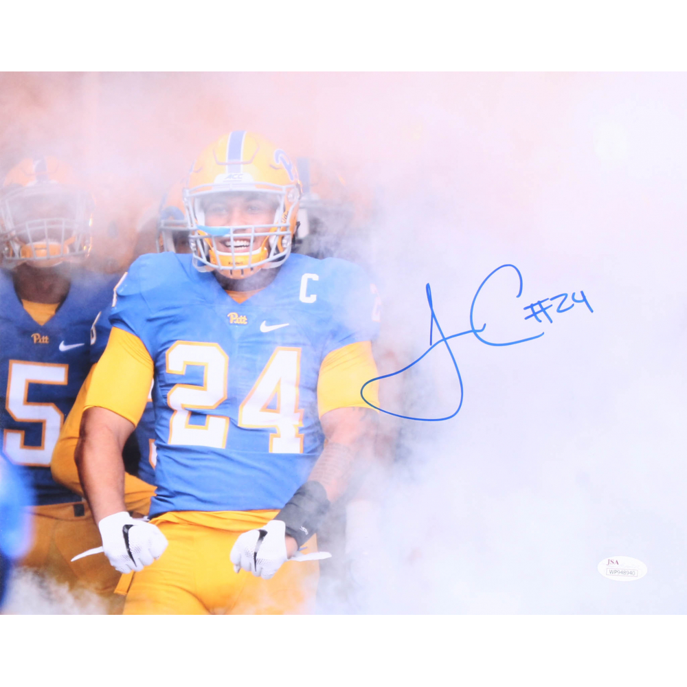 c5256d7c5 James Conner Signed Pittsburgh Panthers 11x14 Photo (JSA COA)