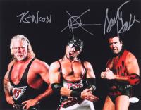 Kevin Nash, Scott Hall & X-Pac Signed WWE 11x14 Photo (JSA COA)