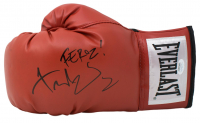 "Fernando Vargas Signed Everlast Boxing Glove Inscribed ""Feroz!"" (JSA COA)"