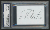 Jimmy Carter Signed 2.25x3.25 Cut (PSA Encapsulated)