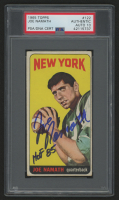 "Joe Namath Signed 1965 Topps #122 SP RC Inscribed ""HOF 85"" (PSA Encapsulated)"