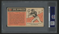 "Joe Namath Signed 1965 Topps #122 SP RC Inscribed ""HOF 85"" (PSA Encapsulated) at PristineAuction.com"
