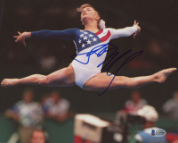 Shannon Miller Signed Team USA 8x10 Photo (Beckett COA)