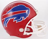 "Jim Kelly Signed Bills Full-Size Authentic On-Field Helmet Inscribed ""HOF 02"" (JSA COA)"