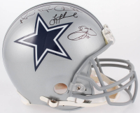 "Troy Aikman, Emmitt Smith & Michael ""Playmaker"" Irvin Signed Cowboys Full-Size Authentic On-Field Helmet (JSA COA)"