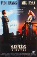 "Tom Hanks Signed ""Sleepless In Seattle"" 12x18 Movie Poster (Beckett COA)"
