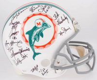 1972 Dolphins Full-Size Authentic On-Field Helmet Team-Signed by (27) with Bob Griese, Jake Scott, Dick Anderson, Mercury Morris, Al Jenkins (JSA COA)