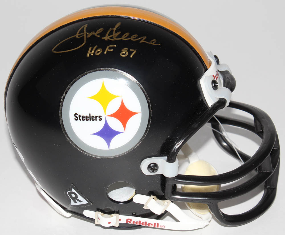 90c640ec9d3 Joe Greene Signed Steelers Mini-Helmet Inscribed