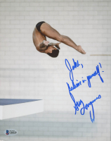 """Greg Louganis Signed 8x10 Photo Inscribed """"Believe In Yourself!"""" (Beckett COA) at PristineAuction.com"""